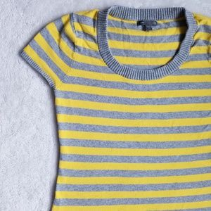 GAP Striped Short Sleeve Sweater, Size S